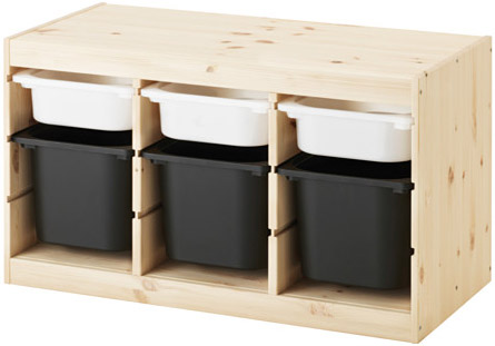 Kids IKEA trofast storage with boxes