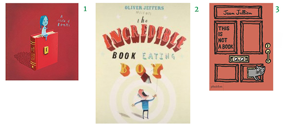 Books About Books Picture Books for Children Oliver Jeffers Sam Winston A Child of Books The Incredible Book Eating Boy This is not a Book by Jean Jullien