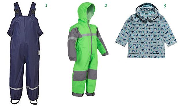 Playshoes Unisex Baby and Kids' Rain Pants Oakiwear Kids One-Piece Waterproof Trail Rain SuitRain Coat Jacket with Detachable Hood Rain Clothes