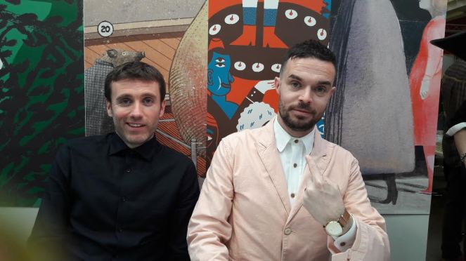 Sam Winston and Oliver Jeffers Bologna Children's Book Fair Book Signing