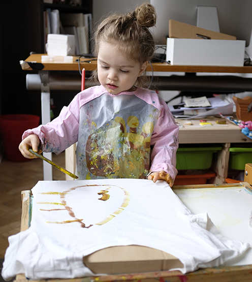 Toddler painting tshirt T-SHIRT ART DESIGN Activity Instructions