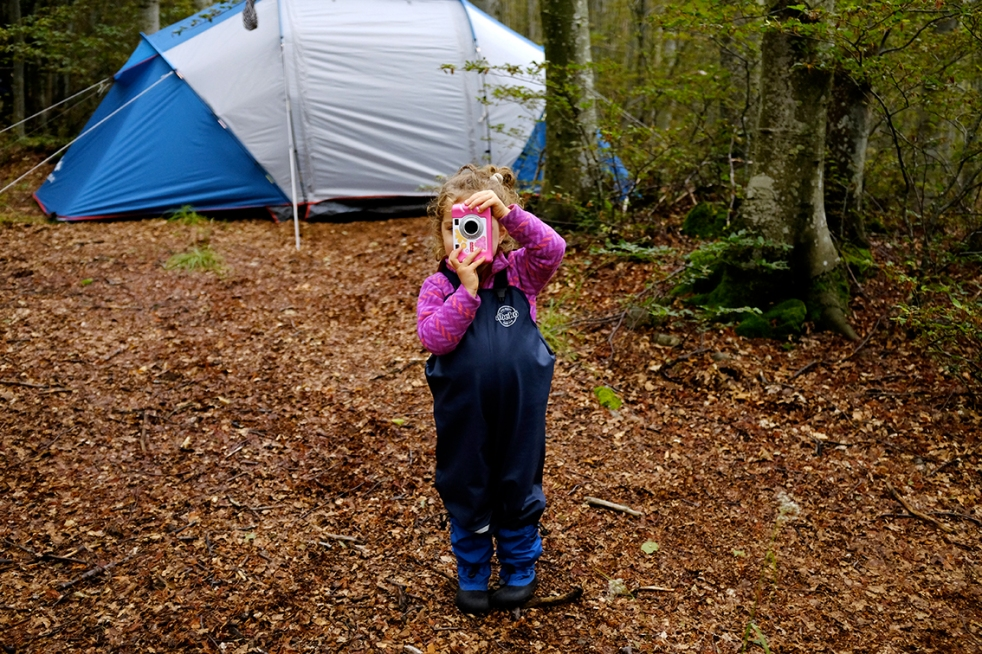 Fisher Price Digital Camera Kid-Tough Digital Camera Abeko Dungarees MyMayu Boots Camping Woods Tent