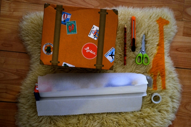 DIY Pinhole Camera Xacto Knife Scissors Ruler Pencil Wax Baking Paper Washi Tape Shipskin Rug