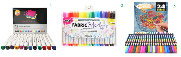 Fabric Markers 12 Pack Fabric Markers 20 Pack Fabric Markers 24 Pack