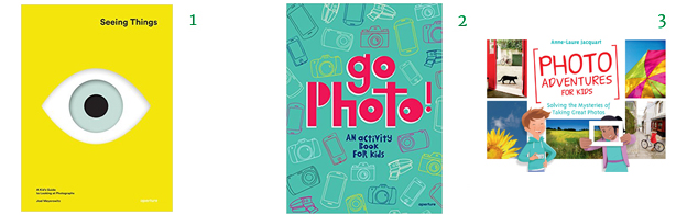 Photography Books Seeing Things: A Kid's Guide to Looking at Photographs Go Photo! An Activity Book for Kids Photo Adventures for Kids: Solving the Mysteries of Taking Great Photos