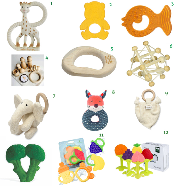 Hevea Panda Teether Freezer Safe Teether Set 5 Teething Keys Little Toader Teething Broccoli Momma Goose Organic Cotton Teether Organic Frenchy Fox Teething Rattle Organic Cotton Teether Manhattan Toy Skwish Maple Teether Montessori Organic Wood Toy Bag CaaOcho Rubber Teether Sophie the Giraffe