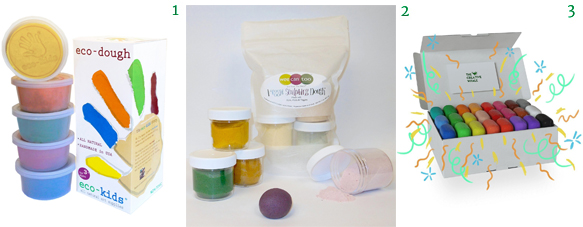 Organic and Safe Playdough Eco-Kids Eco-Dough Wee Can Too Organic Veggie Mix and Go Dough The Creative Whale's Marshmallow Clay