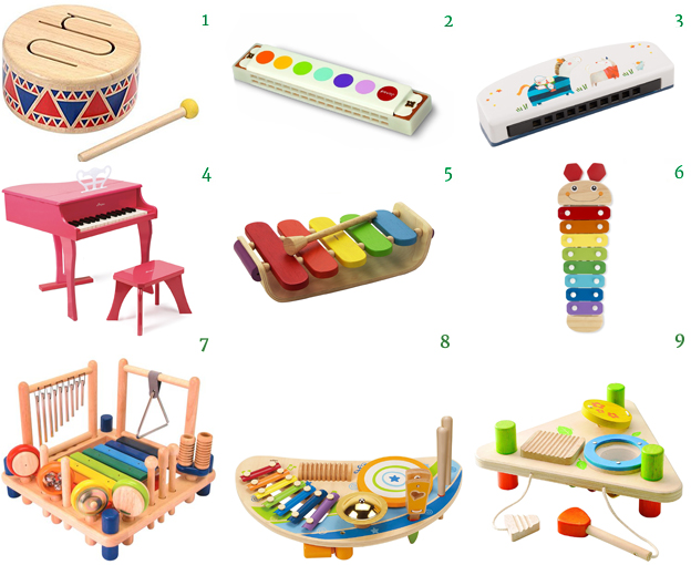 PlanToy Drum Xylphone Moulin Roty  Janod Harmonica Melissa and Dough Hape Piano Music Set EverEarth I'M Toys Musical Toys for Kids