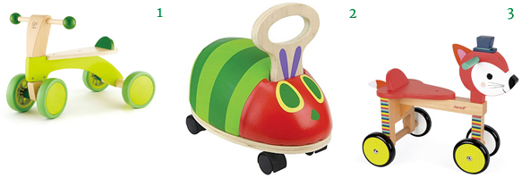 Ride On Toys Hape Scoot Around Kid's Wooden Ride On Balance Bike World of Eric Carle Ride 'n' Roll Caterpillar Ride On Janod Forest Fox Ride-On Baby Toy