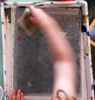 paper-making cover screen sponge