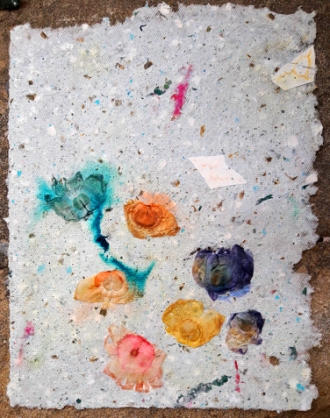DIY Handmade Paper with Flowers Recycled Paper