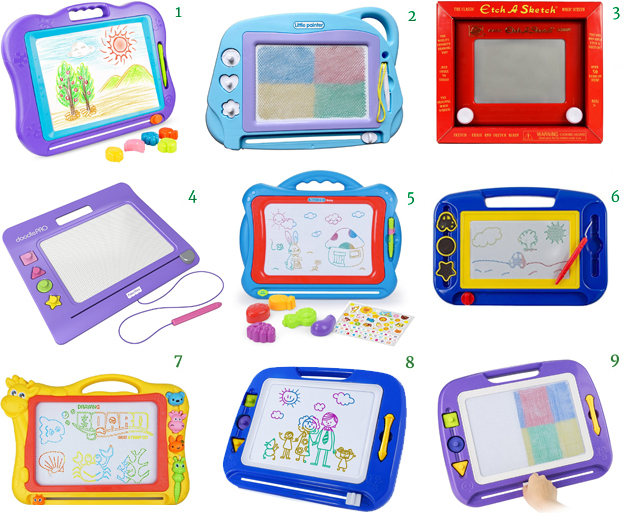 "BATTOP Big Size Kids Drawing Board Magnetic Drawing Board Mini Travel Doodle Etch A Sketch - Classic Fisher-Price Slim Doodle Pro NextX Magnetic Drawing Board Write and Learn Creative Toy Magnetic Doodle Drawing Board For Kids Magnetic Drawing Board SGILE Magnetic Drawing Board SGILE 13X17"" Magna Doodle Sketch Erasable Pad"