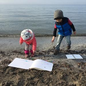 Beach Watercolors Children Painting