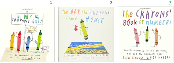 Crayon Books Drew Daywalt Oliver Jeffers The Day The Crayons Quit The Crayons Came Home The Crayons' Book of Numbers