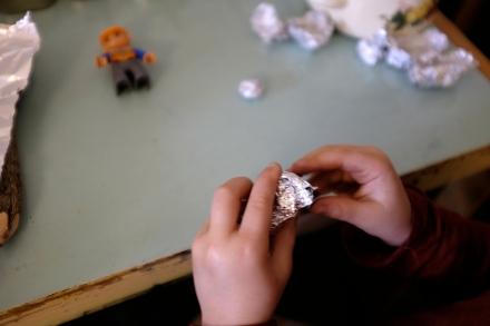 DIY crayons Aluminium Foil Mold Lego