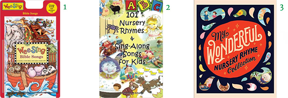 Wee Sing Bible Songs (Wee Sing) CD and Book Edition 101 Nursery Rhymes Books & Sing-Along Songs for Kids My Wonderful Nursery Rhyme Collection