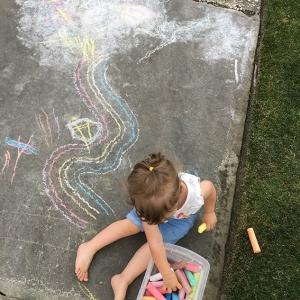 Sidewalk Chalk Rainbow