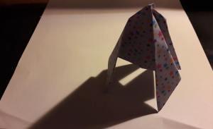 Origami Rocket Original Design 3 Year old origami artist