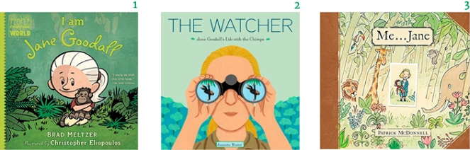 Jane Goodall Picture Books Brad Meltzer I am Jane Goodall The Watcher Jeanette Winter Me... Jane Patrick McDonnell