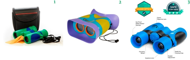 Kids Binoculars Kidwinz Shock Proof 8x21 Kids Binoculars Educational Insights GeoSafari Jr. Kidnoculars EvoCrest Binoculars for Kids