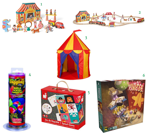 Janod Story Box Circus  Janod Story Express Circus  1 X Red Floor Circus Tent Indoor Children Play House Outdoor Kids Castle by POCO DIVO  Juggling Combo Pack - silk scarves.  Janod Speed Game - Circus Game - A bingo Meeple Circus