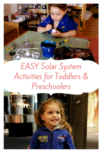 EASY Solar System Activities for Toddlers & Preschoolers