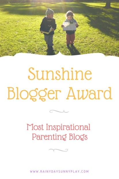 Sunshine Blogger Award Most Inspirational Parenting Blogs