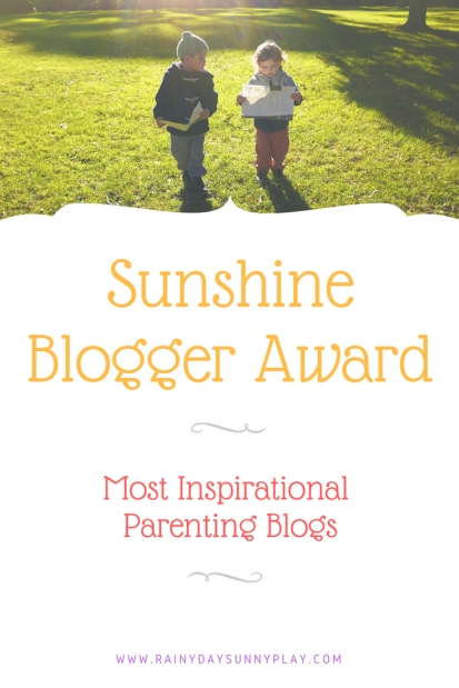 Sunshine Blogger Award Most Inspirational Parenting Blogs