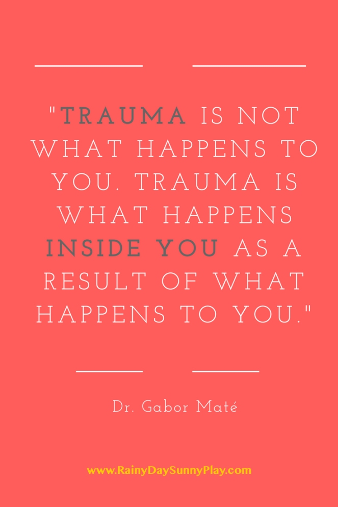 Dr. Gabor Mate Quote Trauma is not what happens to you. Trauma is what happens inside you