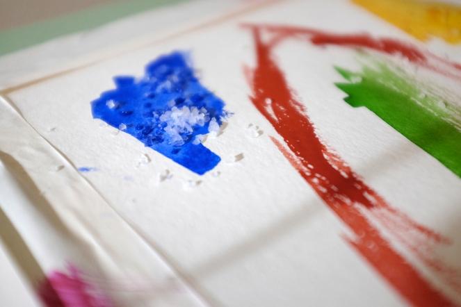 Watercolor Salt Painting Technique