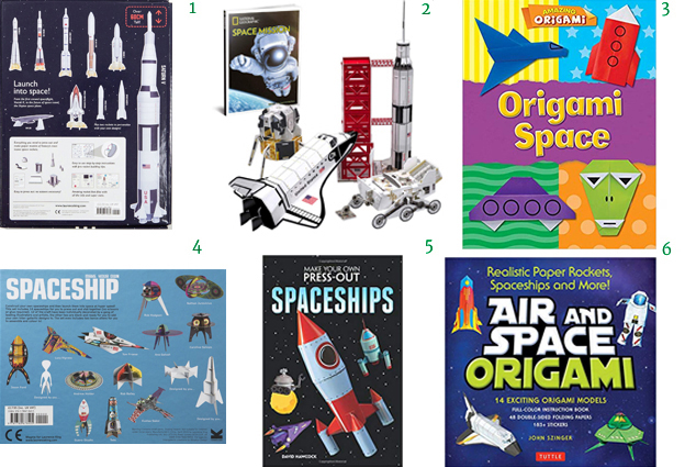 Paper Space Ships Press Out Educational Space Toys Origami for Kids