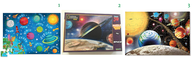 Educational SPACE Puzzles for Kids