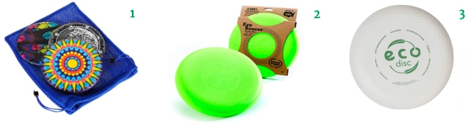 Waboba Wingman Flying Silicone Disc || Bundle of 3 Multi-Colors LoveLotte Eco Disc Biodegradable Bamboo Frisbee Green Toys EcoSaucer Flying Disc