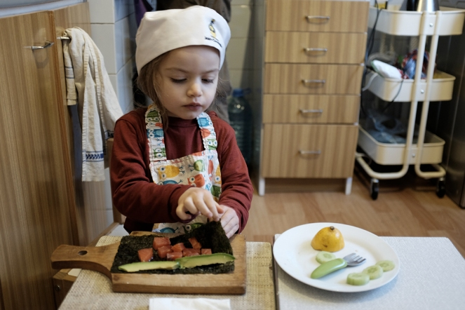 Toddler Cooking Sushi