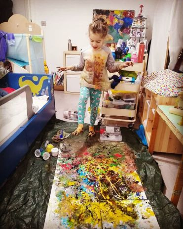 messy painting activity we love frugi